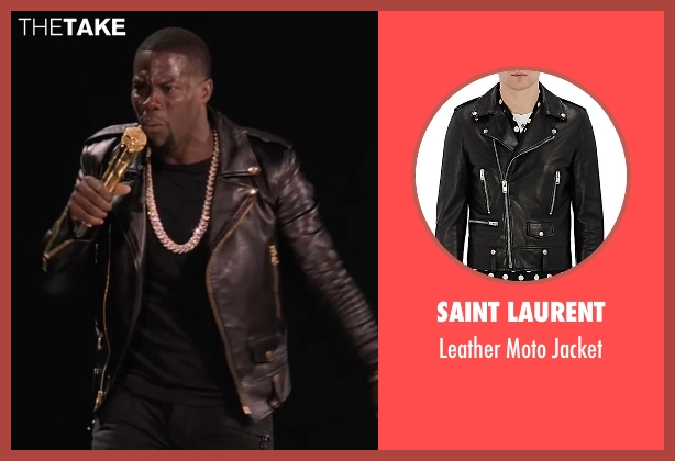 Saint Laurent black jacket from Kevin Hart: What Now? seen with Kevin Hart