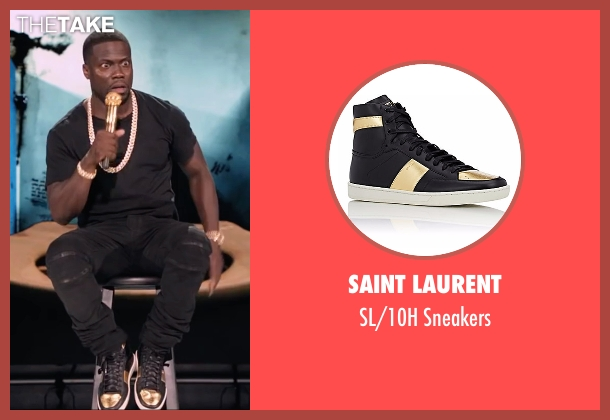 Saint Laurent black sneakers from Kevin Hart: What Now? seen with Kevin Hart