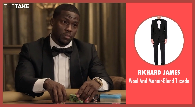 Richard James black tuxedo from Kevin Hart: What Now? seen with Kevin Hart