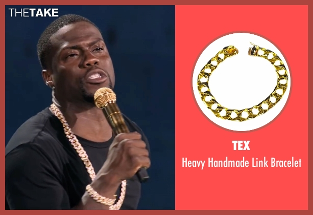Tex gold bracelet from Kevin Hart: What Now? seen with Kevin Hart