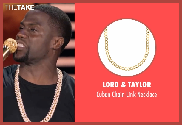 Lord & Taylor gold necklace from Kevin Hart: What Now? seen with Kevin Hart