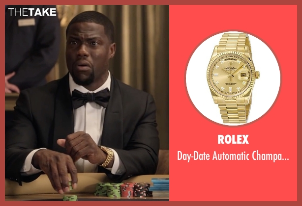 Rolex gold watch from Kevin Hart: What Now? seen with Kevin Hart