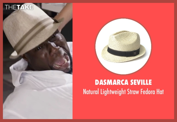 Dasmarca Seville beige hat from Ride Along 2 seen with Kevin Hart (Ben Barber)