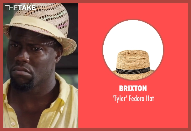 Brixton beige hat from Ride Along 2 seen with Kevin Hart (Ben Barber)