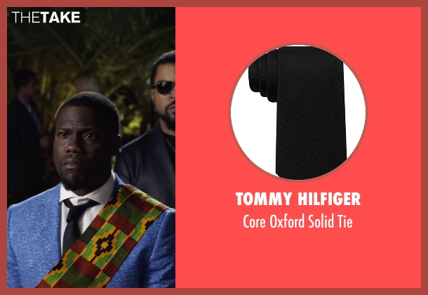 Tommy Hilfiger black tie from Ride Along 2 seen with Kevin Hart (Ben Barber)