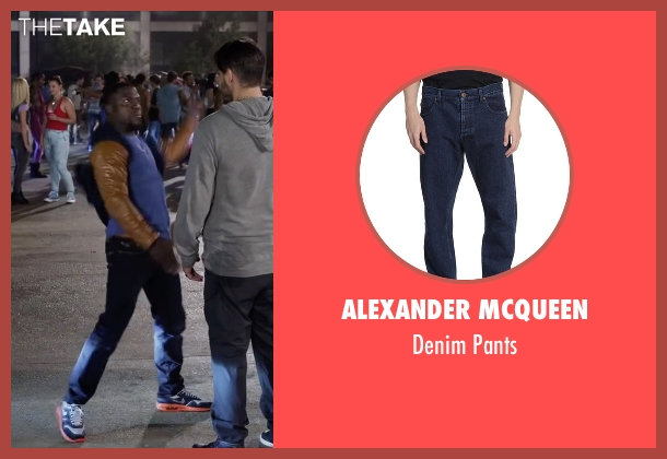 Alexander Mcqueen blue pants from Ride Along 2 seen with Kevin Hart (Ben Barber)