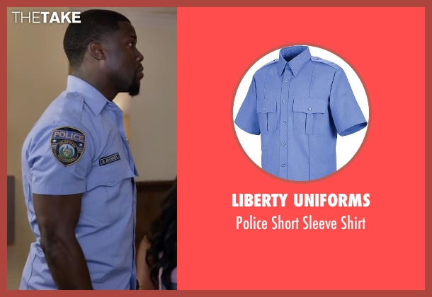 Liberty Uniforms blue shirt from Ride Along 2 seen with Kevin Hart (Ben Barber)