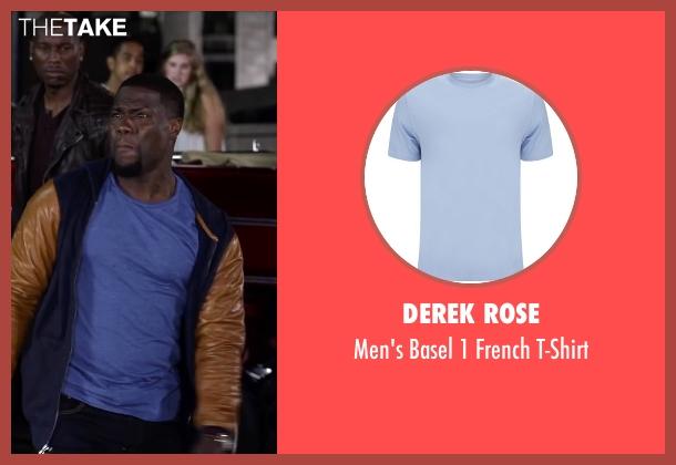 Derek Rose blue t-shirt from Ride Along 2 seen with Kevin Hart (Ben Barber)