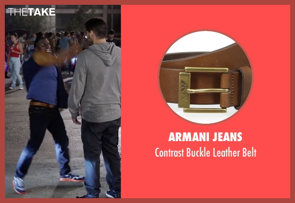 Armani Jeans brown belt from Ride Along 2 seen with Kevin Hart (Ben Barber)