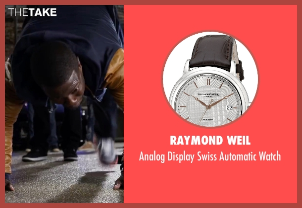 Raymond Weil brown watch from Ride Along 2 seen with Kevin Hart (Ben Barber)