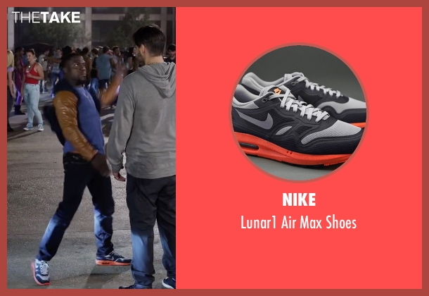 Nike gray shoes from Ride Along 2 seen with Kevin Hart (Ben Barber)