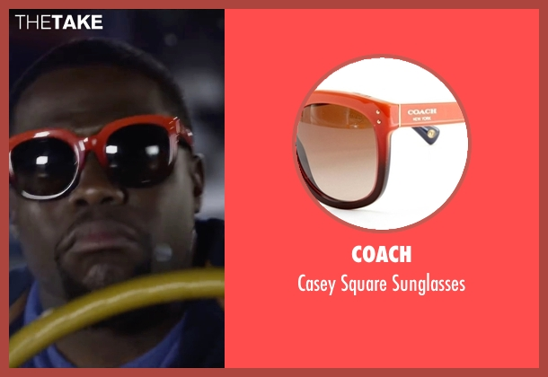 Coach orange sunglasses from Ride Along 2 seen with Kevin Hart (Ben Barber)