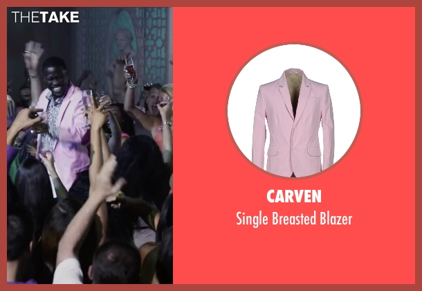 Carven pink blazer from Ride Along 2 seen with Kevin Hart (Ben Barber)