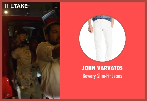John Varvatos white jeans from Ride Along 2 seen with Kevin Hart (Ben Barber)