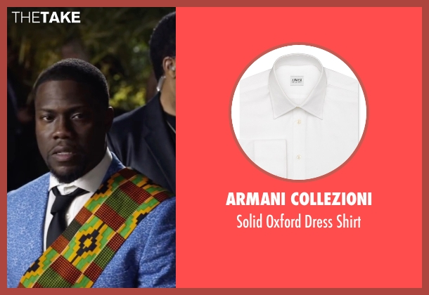 Armani Collezioni white shirt from Ride Along 2 seen with Kevin Hart (Ben Barber)