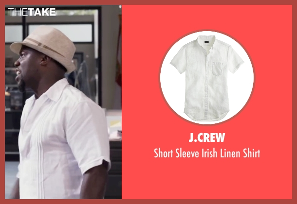 J.Crew white shirt from Ride Along 2 seen with Kevin Hart (Ben Barber)