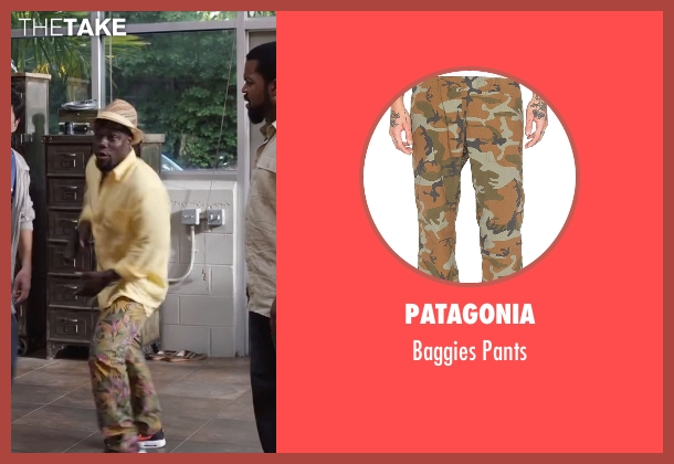 Patagonia yellow pants from Ride Along 2 seen with Kevin Hart (Ben Barber)