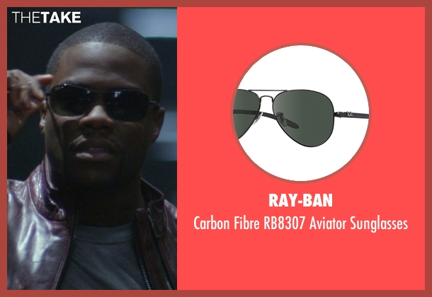Ray-Ban black sunglasses from Ride Along seen with Kevin Hart (Ben Barber)