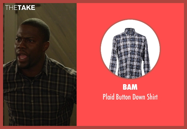 Bam blue shirt from Ride Along seen with Kevin Hart (Ben Barber)