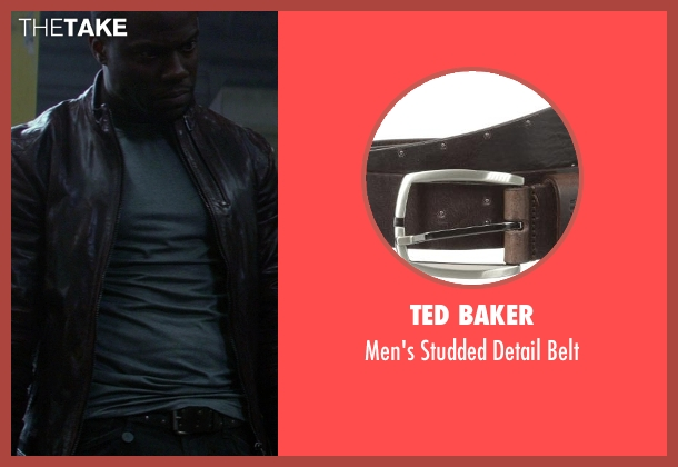 Ted Baker brown belt from Ride Along seen with Kevin Hart (Ben Barber)