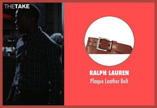 Ralph Lauren brown belt from Ride Along seen with Kevin Hart (Ben Barber)