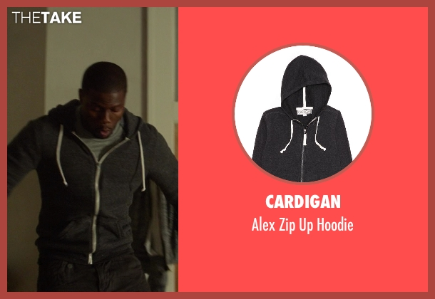 Cardigan gray hoodie from Ride Along seen with Kevin Hart (Ben Barber)