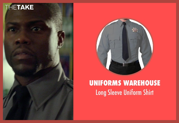 Uniforms Warehouse gray shirt from Ride Along seen with Kevin Hart (Ben Barber)