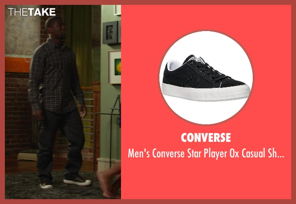 Converse gray shoes from Ride Along seen with Kevin Hart (Ben Barber)