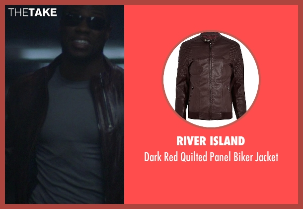 River Island red jacket from Ride Along seen with Kevin Hart (Ben Barber)
