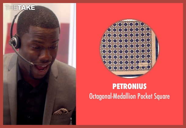 Petronius beige square from Top Five seen with Kevin Hart (Charles)