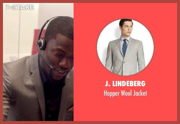 J. Lindeberg gray jacket from Top Five seen with Kevin Hart (Charles)