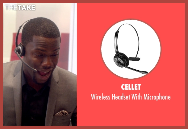Cellet microphone from Top Five seen with Kevin Hart (Charles)