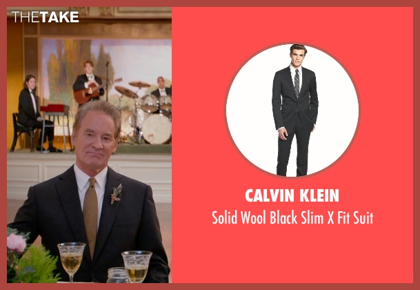 Calvin Klein black suit from Ricki and the Flash seen with Kevin Kline (Pete Brummel)