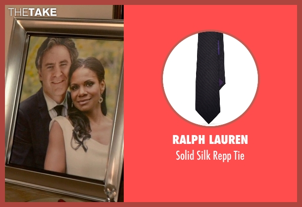 Ralph Lauren black tie from Ricki and the Flash seen with Kevin Kline (Pete Brummel)