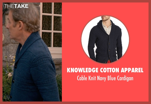 Knowledge Cotton Apparel blue cardigan from Ricki and the Flash seen with Kevin Kline (Pete Brummel)