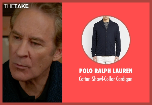Polo Ralph Lauren blue cardigan from Ricki and the Flash seen with Kevin Kline (Pete Brummel)