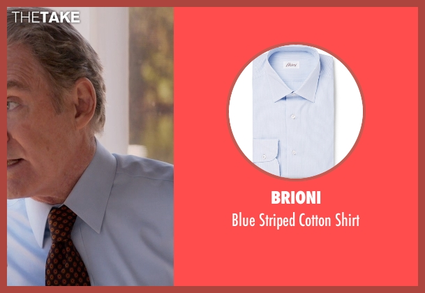 Brioni blue shirt from Ricki and the Flash seen with Kevin Kline (Pete Brummel)