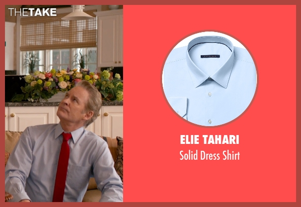 Elie Tahari blue shirt from Ricki and the Flash seen with Kevin Kline (Pete Brummel)