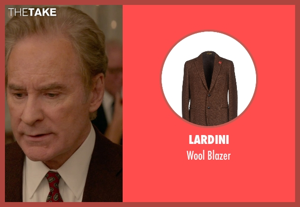 Lardini brown blazer from Ricki and the Flash seen with Kevin Kline (Pete Brummel)
