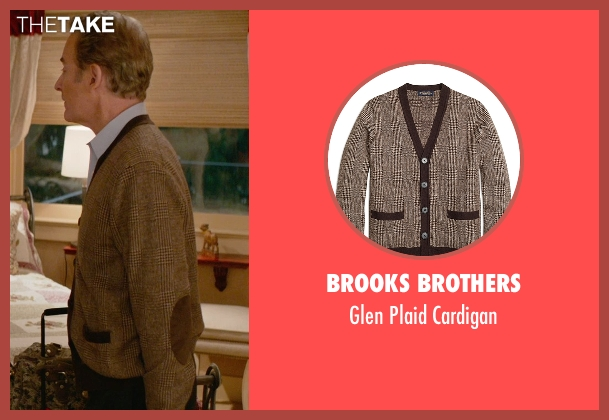 Brooks Brothers brown cardigan from Ricki and the Flash seen with Kevin Kline (Pete Brummel)