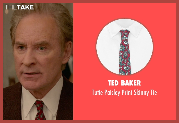 Ted Baker red tie from Ricki and the Flash seen with Kevin Kline (Pete Brummel)