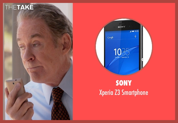 Sony smartphone from Ricki and the Flash seen with Kevin Kline (Pete Brummel)
