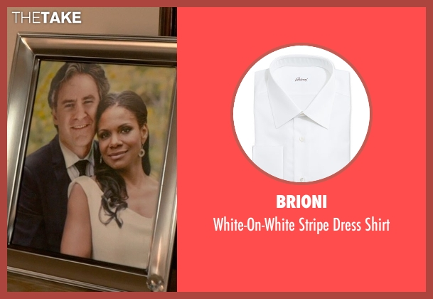 Brioni white shirt from Ricki and the Flash seen with Kevin Kline (Pete Brummel)