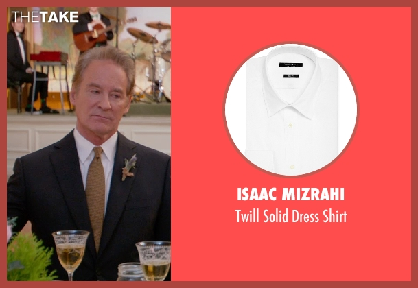 Isaac Mizrahi white shirt from Ricki and the Flash seen with Kevin Kline (Pete Brummel)