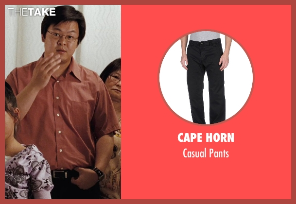 Cape Horn black pants from (500) Days of Summer seen with Kevin Leung (Chinese Father)