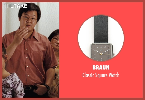 Braun black watch from (500) Days of Summer seen with Kevin Leung (Chinese Father)