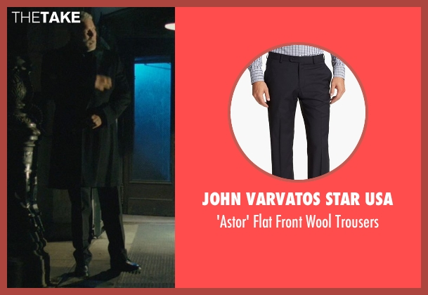 John Varvatos Star USA black trousers from John Wick seen with Kevin Nash (Francis)