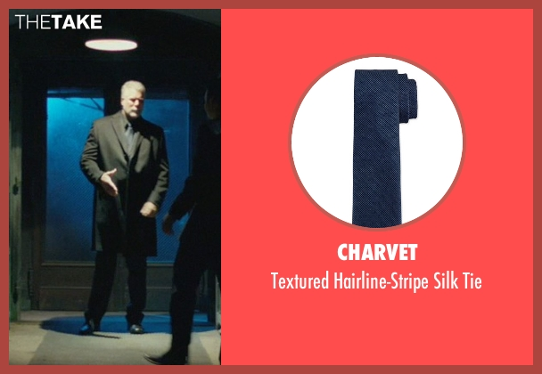 Charvet blue tie from John Wick seen with Kevin Nash (Francis)