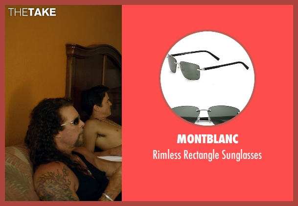 Montblanc black sunglasses from Magic Mike XXL seen with Kevin Nash (Tarzan)