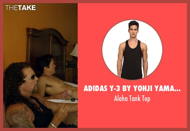 Adidas Y-3 by Yohji Yamamoto black top from Magic Mike XXL seen with Kevin Nash (Tarzan)
